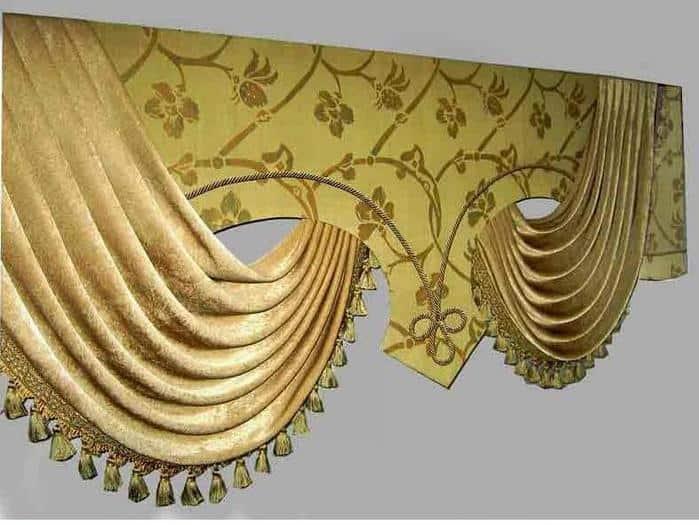 merevitett draperia kepe