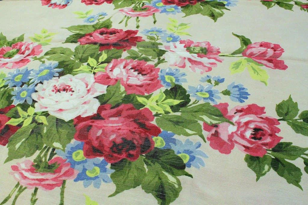 virágmintás kreton - lakástextil dekor anyag
