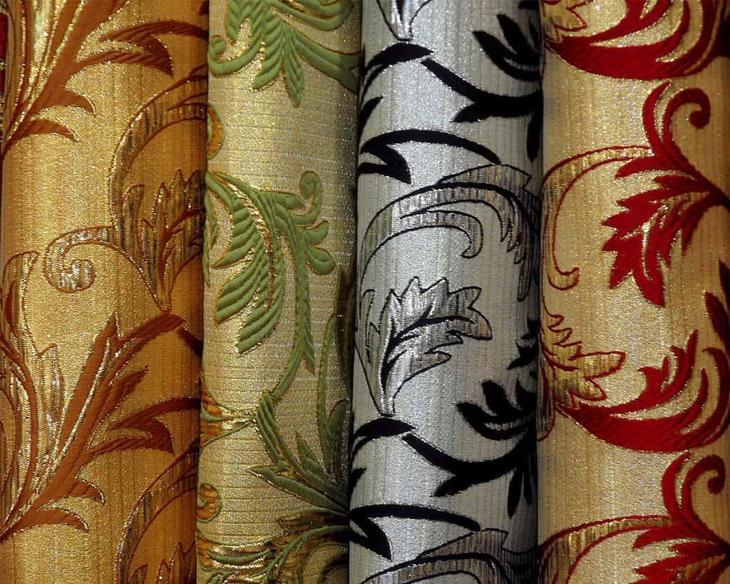 klasszikus brokát selyem - lakástextil dekor sötétítő függöny