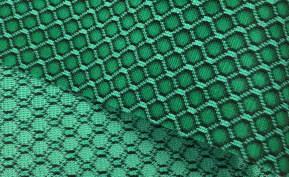 zöld sejtmintás double - lakástextil szövet