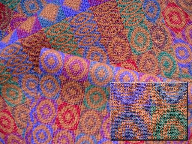modern mintás double - lakástextil szövet