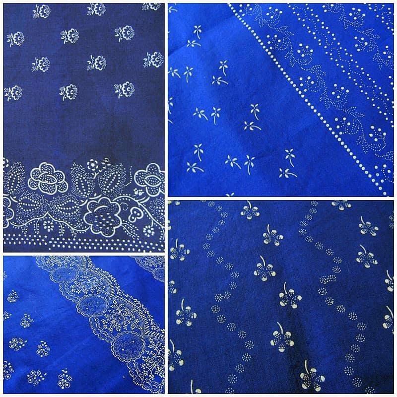 klasszikus kékfestő - lakástextil dekor anyag