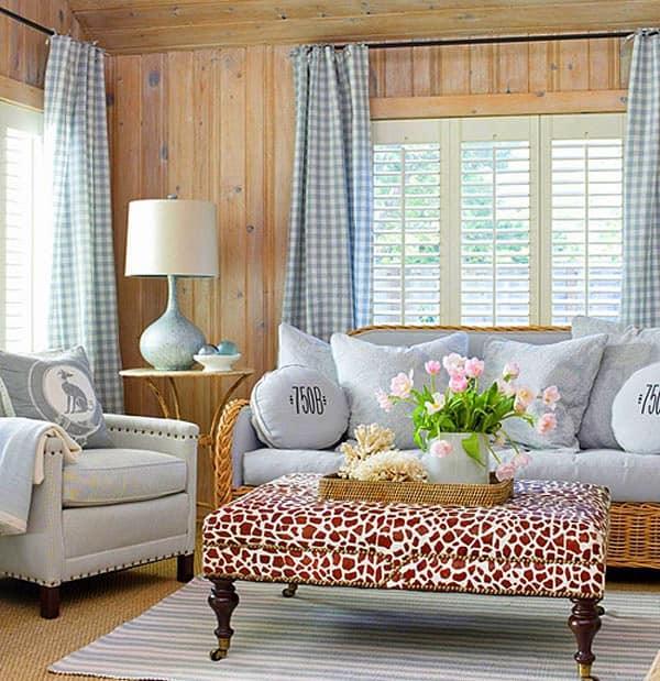 mintás gingham függöny - dekor lakástextil