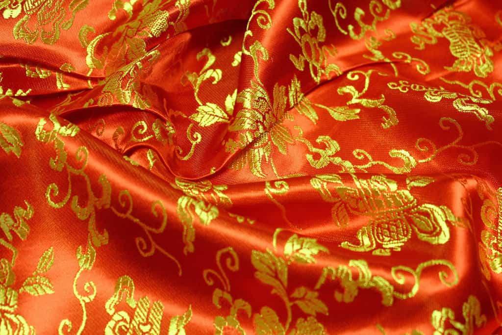 klasszikus kínai selyem - lakástextil dekor sötétítő függöny