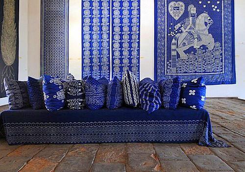 kékfestő - lakástextil dekor anyag