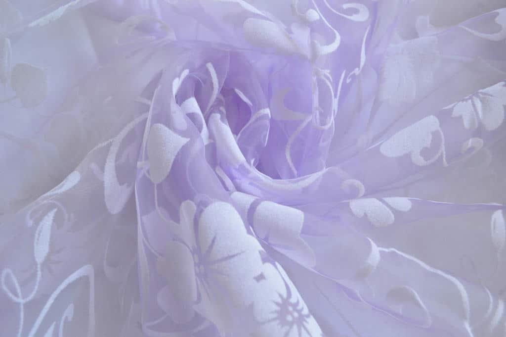 virág mintás maratott organza - fényáteresztő függöny