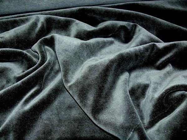 ezüst színű plüss - lakástextil szövet