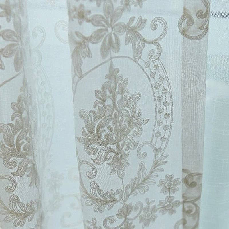 hímzett tüll - fényáteresztő függöny