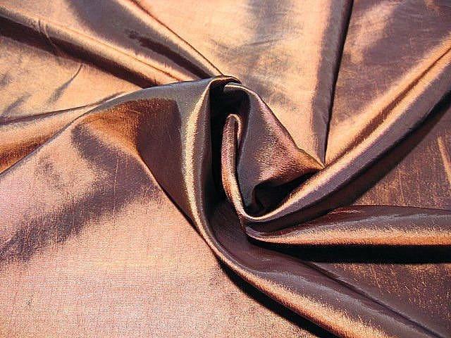 mogyoró színű taft - dekor sötétítő függöny anyag