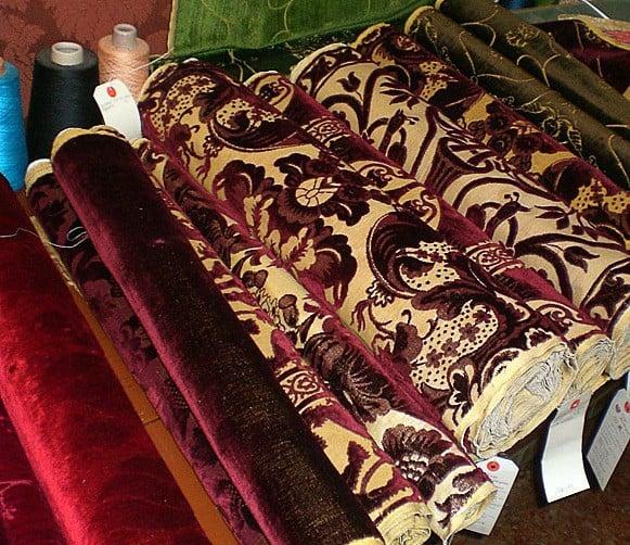 klasszikus mintás velencei bársony - lakástextil szövetek