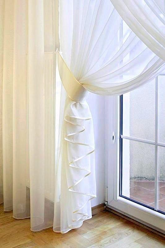 hófehér voile - fényáteresztő függönyök