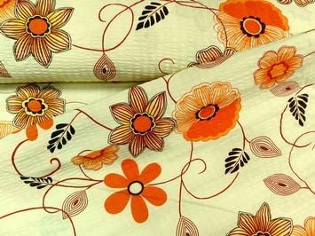 virágos krepp - lakástextil dekor anyag