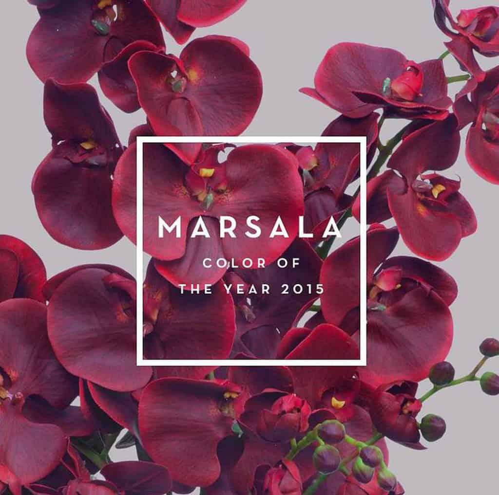 MARSALA: a burgundi és a barna között található a színskálán.