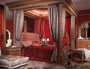 Klasszikus baldachin a XVI. századból - ha lenne ilyen ágyam ma is elfogadnám.