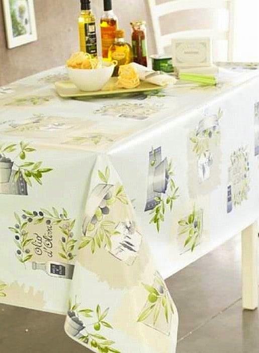 Az oliva zöld mintás konyhai textil örök darab. Egy szolidabb színösszeállításban bárhol megállja a helyét!