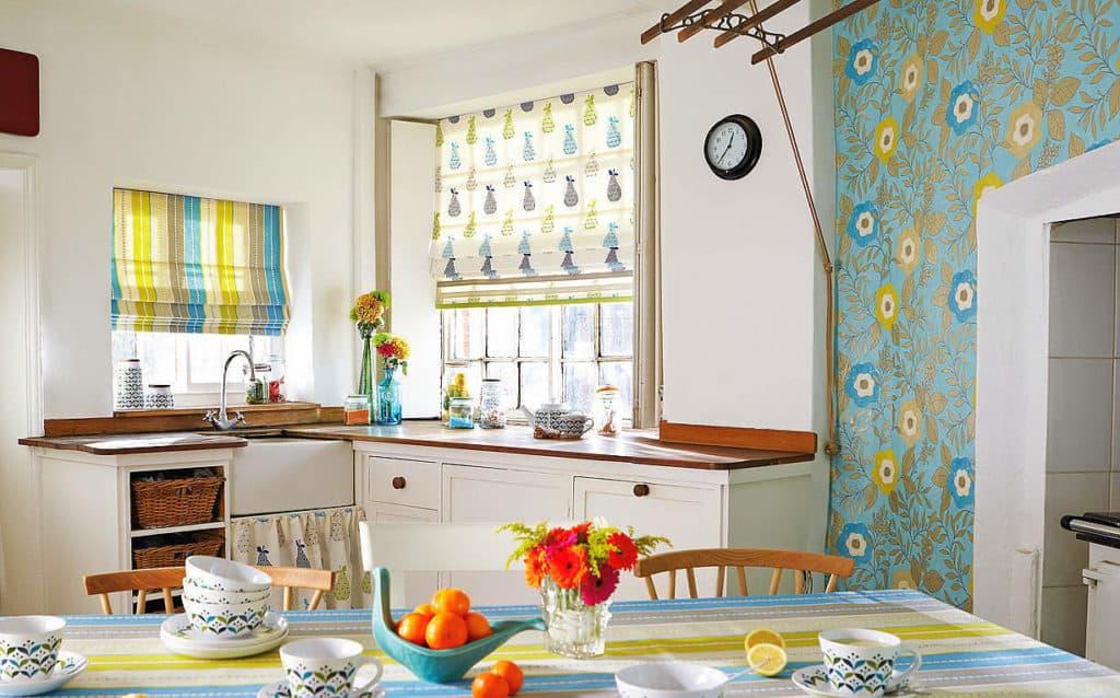 Gyümölcs mintás modern konyhai anyagok kombinációja: egyszerűen - ez a stílus!