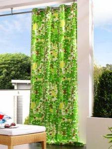 Kültéri ringlis terasz függöny speciális dekor anyagból