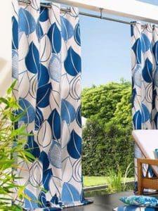 Színes dekor kültéri függöny.