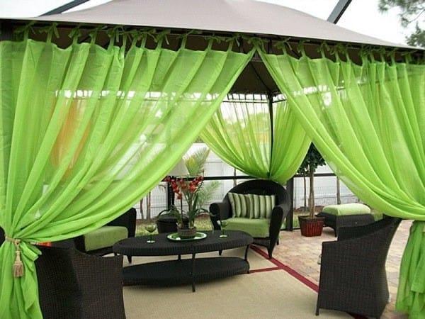Kültéri kerti terasz függöny speciális színes nylon anyagból 2