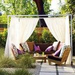 Kültéri, kerti terasz függöny,  – ötletek. I rész.