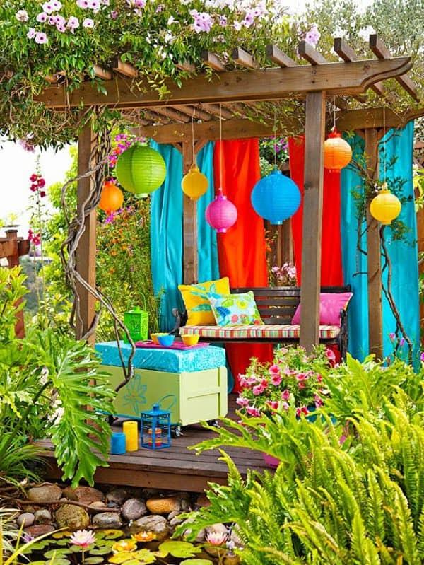 Kerti parti, gyerekzsúr - de ha csak színt akarunk vinni a kerti életbe, itt egy elragadó megoldás.