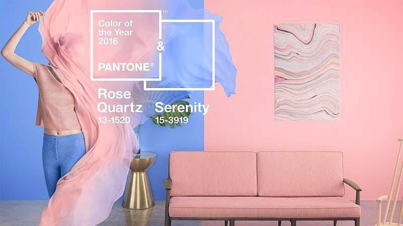 Rose Quartz (rózsakvarc) és Serenity (derűs kék)
