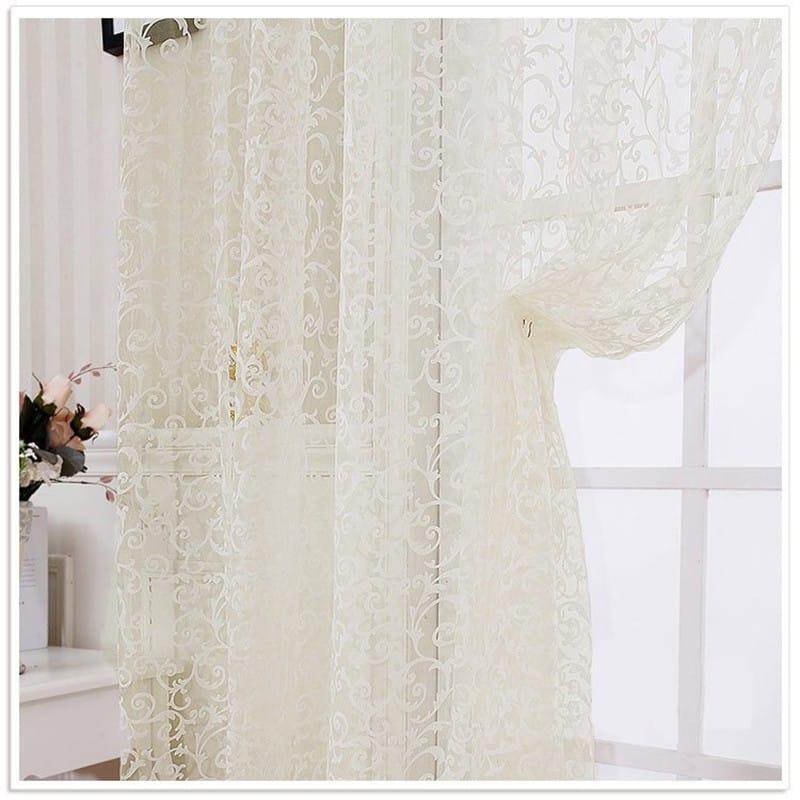 zsakard függöny, fehér, modern mintával