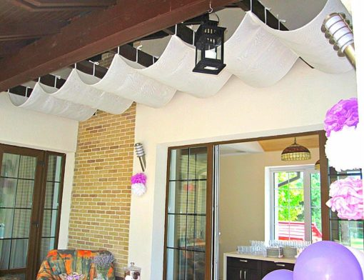 kültéri GYŰRT fényvátesztő árnyékoló függöny vízlepergető