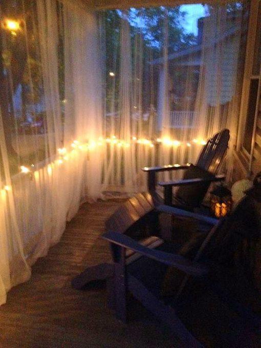 kültéri TÜLL terasz kert pergola erkély függöny, rovarok ellen (