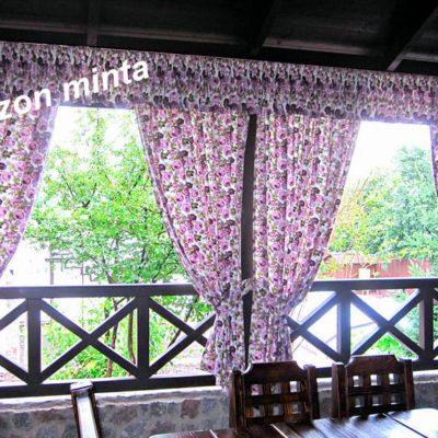 kültéri rózsák dekor függöny vízlepergető (10)