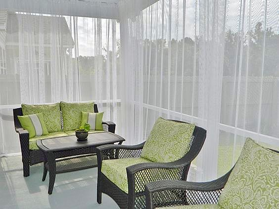 Kültéri SABLÉ - fényáteresztő függöny 260-300 cm - Agria Textil Design 822c1ca0ca