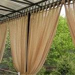 Kültéri Natúr Struktúr dekor függöny 300 cm