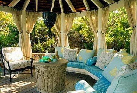 Kültéri Natúr Struktúr dekor kültéri terasz kert pergola erkély függöny