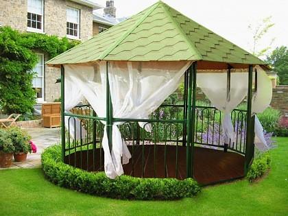 Kültéri kerti függöny szálbeszövött voile