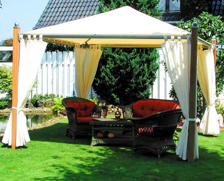 Klasszikus – kültéri kert terasz pergola függöny 2
