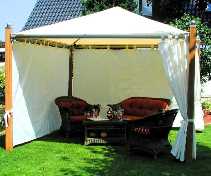 Kültéri, kerti terasz pergola függöny, árnyékolás - ötletek a szabadban 2016 - Agria Textil Design