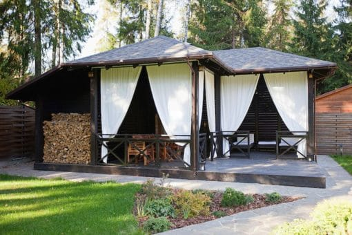 Kültéri kerti terasz pergola erkély függöny
