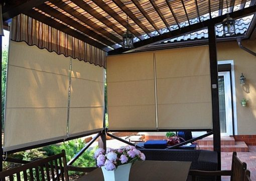 kültéri kerti roló függöny