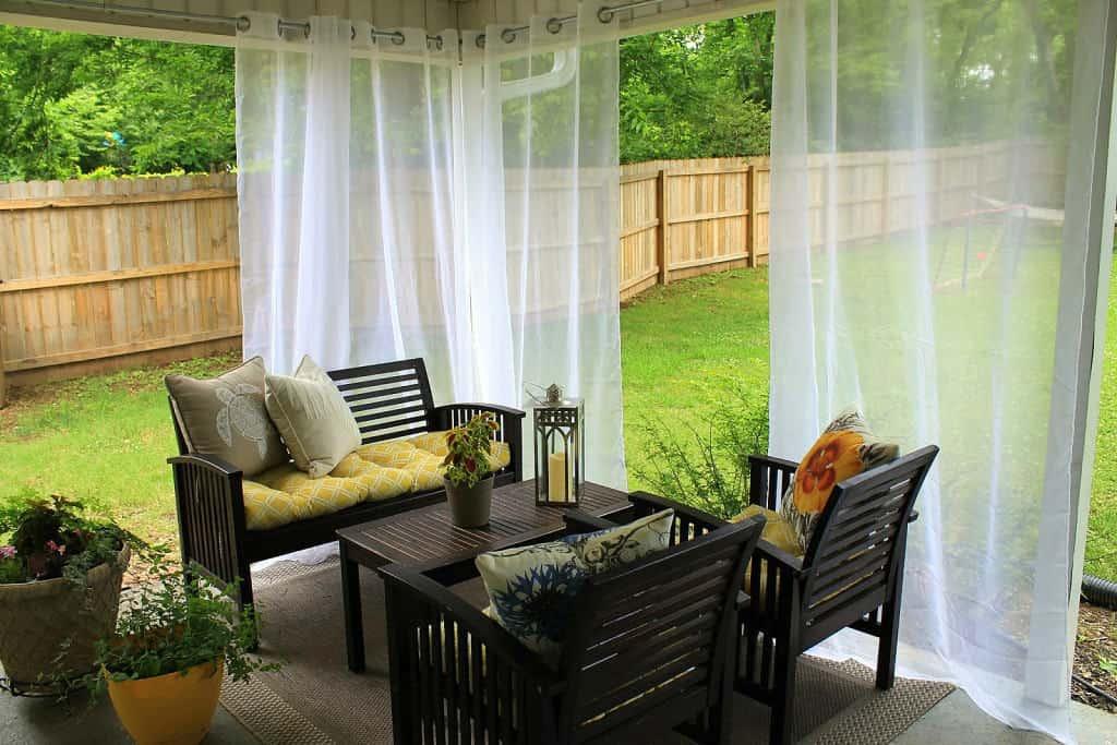 Kültéri voile függöny kültéri terasz kert pergola erkély függöny