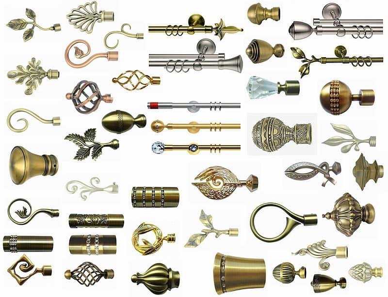 Az egyedi tartozékok a karnis dekor elemei.
