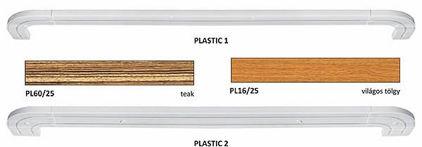 Műanyag, fabetétes lapsínkarnis előlap változatok.