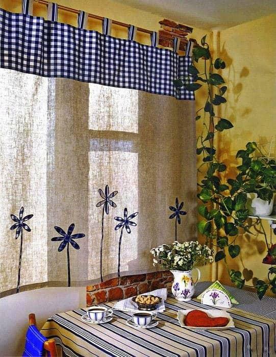 Konyhai függöny kisméretű ablakokra 39