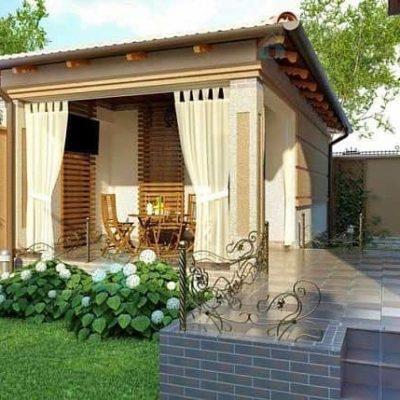Kültéri WALLI Natúr struktúr árnyékoló terasz függöny