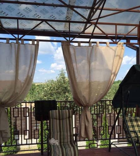 kültéri terasz árnyékoló függöny RINA