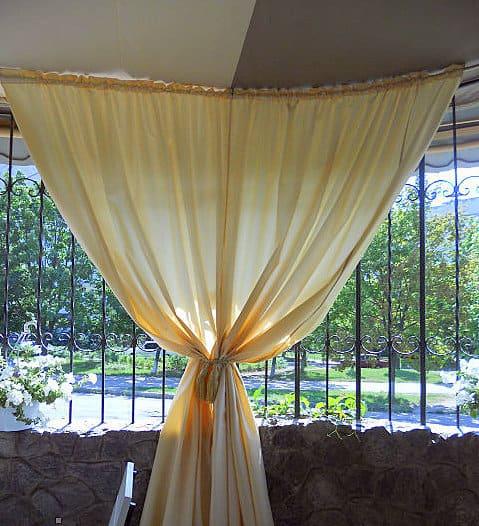 Kültéri AKKI - Üni szatén dekor függöny 320 cm - Agria Textil Design 269a0bca7d
