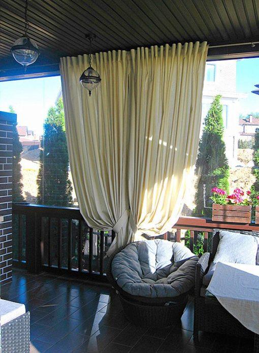 Kültéri terasz dekor függöny pergola függöny szatén BRENDY