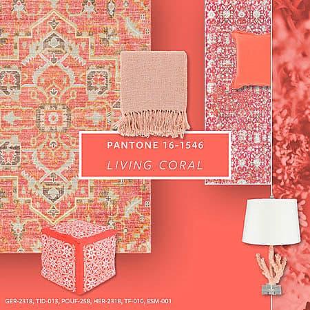 A 2019 év színe a Pantone 16-1546 Living Coral - függönyvarrás eger, Agria Textil (11)