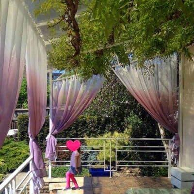 terasz árnyékoló függöny GERDA színátmenetes