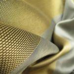Speciális, többek között fényzáró, lángmentes, szennytaszító textilek.