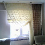 Fényáteresztő függöny , elegáns barna árnyalatokban.
